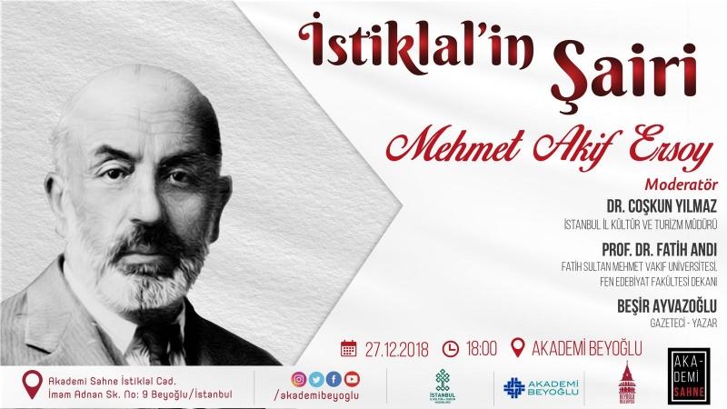 Mehmet Akif Ersoy Akademi Beyoğlu'nda anılıyor