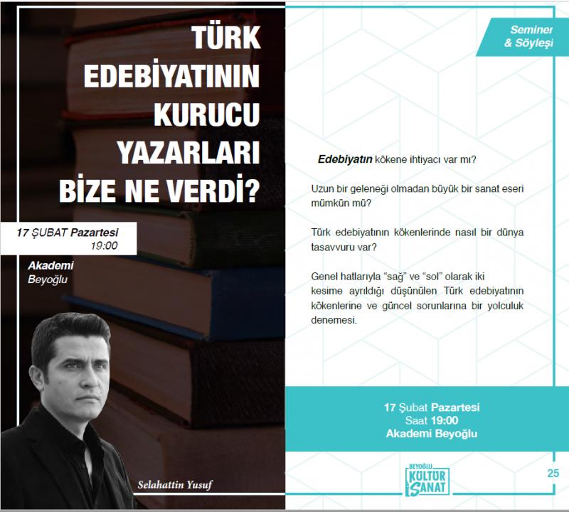 Türk Edebiyatının Kurucu Yazarları Bize Ne Verdi